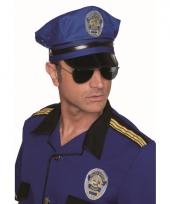 Luxe blauwe politiepetten