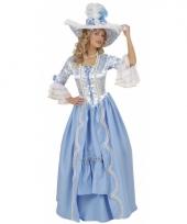 Luxe hofdame jurk blauw