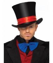 Luxe hoge hoed zwart voor heren