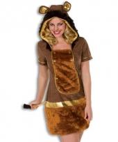 Luxe jurk voor dames leeuw