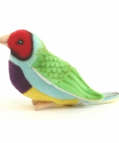 Luxe knuffel gouldamadine vogel 11 cm