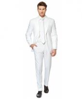 Luxe kostuum voor heren wit