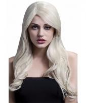 Luxe lange blonde pruik voor dames