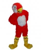 Luxe mascotte rode papegaai