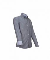 Luxe overhemd grijs giovanni capraro