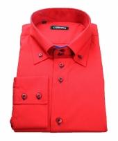 Luxe overhemd rood giovanni capraro