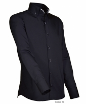 Luxe overhemd zwart giovanni capraro