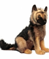 Luxe pluche duitse herder pup 41 cm