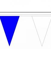 Luxe vlaggenlijnen blauw met wit