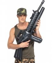 Machinegeweer opblaasbaar zwart