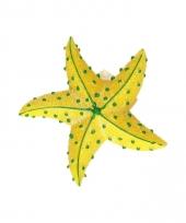 Magneten glitter zeester geel 7 5 cm
