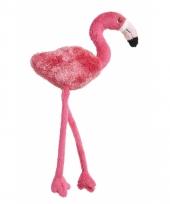 Magneten pluche flamingo roze 23cm
