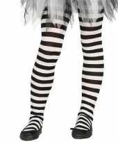 Maillot gestreept wit zwart voor meisjes