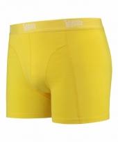 Mannen boxer geel gekleurd katoen