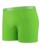 Mannen boxer lime groen gekleurd katoen