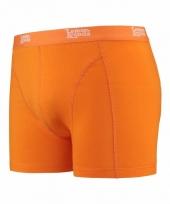 Mannen boxer oranje gekleurd katoen