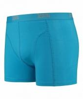 Mannen boxer turquoise blauw gekleurd katoen