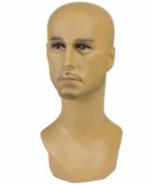 Mannen hoofd display 40 cm
