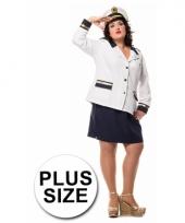 Marine dames colbert en rok in grote maat