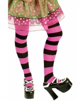 Marjo met zwarte en roze strepen
