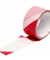 Markeerlint plastic rood wit 25m