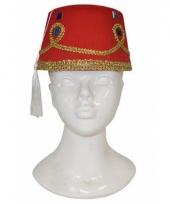 Marokkaans hoedje met decoratie voor volwassenen