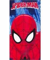 Marvel spiderman gezicht badlaken strandlaken blauw 70 x 140 cm