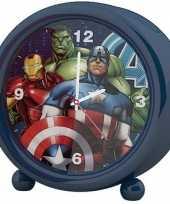 Marvel the avengers kinder wekker klokje blauw 11 5 x 12 cm