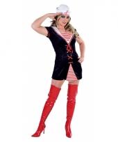 Matroos kostuum voor dames 10037253