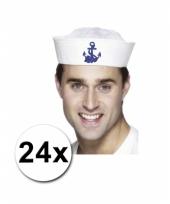 Matrozen petten 24 stuks en 32 zeemans tattoos