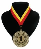 Medaille nr 1 halslint rood en geel