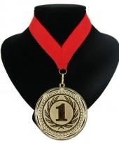 Medaille nr 1 halslint rood