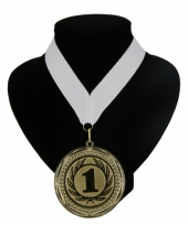 Medaille nr 1 halslint wit
