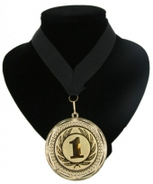 Medaille nr 1 halslint zwart
