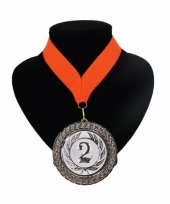 Medaille nr 2 halslint oranje