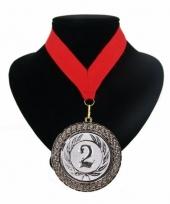 Medaille nr 2 halslint rood