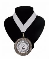 Medaille nr 2 halslint wit