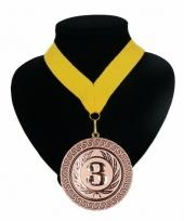 Medaille nr 3 halslint geel