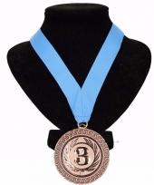 Medaille nr 3 halslint lichtblauw