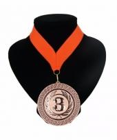 Medaille nr 3 halslint oranje