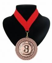 Medaille nr 3 halslint rood