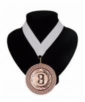 Medaille nr 3 halslint wit