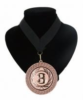 Medaille nr 3 halslint zwart