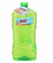 Mega bellenblaas fles groen 3l