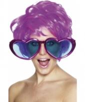 Mega bril met hart vormige glazen