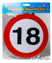 Mega confetti snippers 18 jaar verkeersbord 20 cm