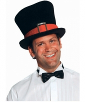 Mega hoge hoed zwart