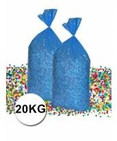 Mega zak confetti 20 kg gerecyclede kranten