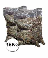 Mega zakken confetti ca 15 kilo totaal