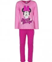 Meisjes pyjama minnie mouse roze